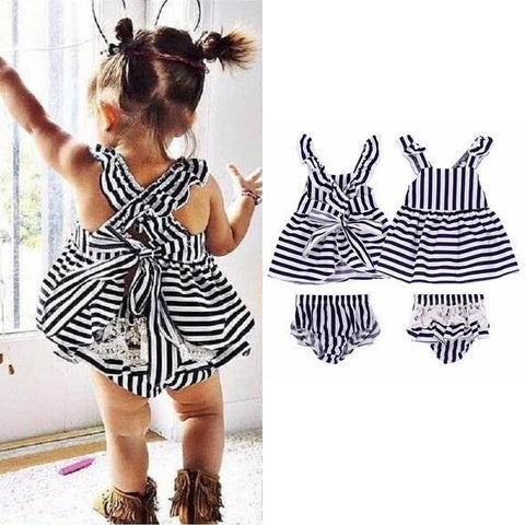 Stripes 'n' Frills Dress