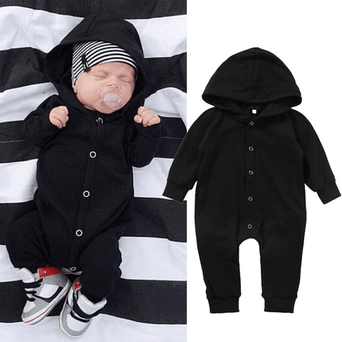 Black Hooded Jumpsuit
