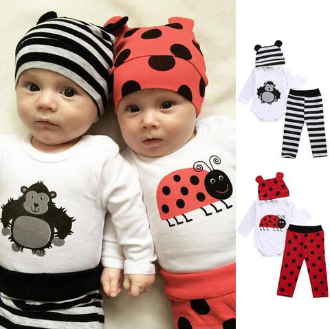 Friendly Critters Bodysuit Set