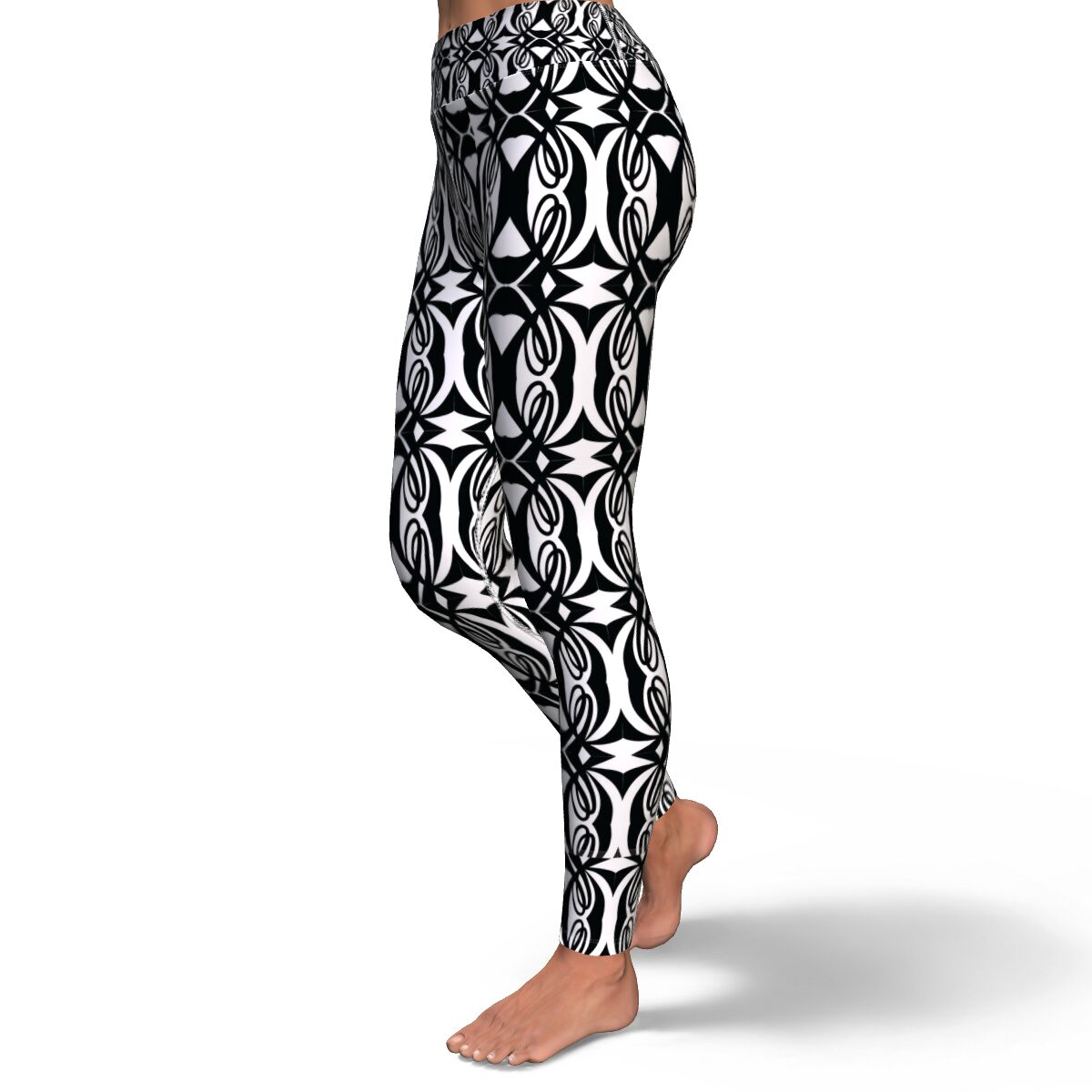 Double L Black & White Yoga Leggings