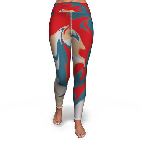 Spiral Printed Yoga Leggings