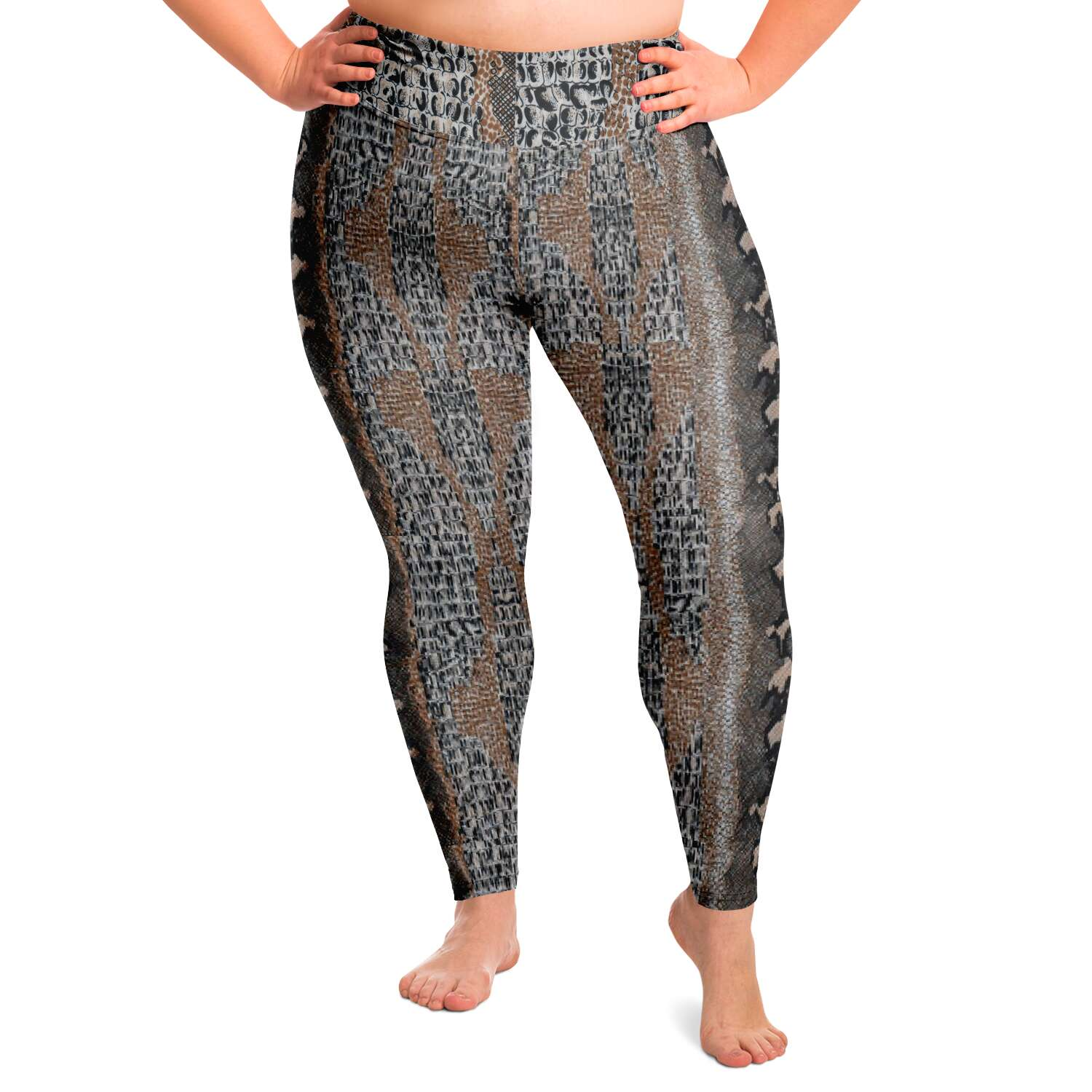 Snake Skin Yoga Leggings Plus Size