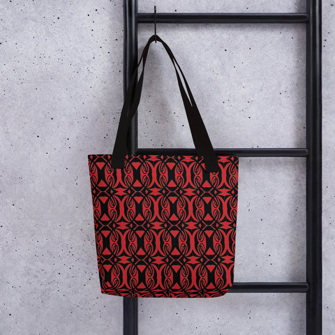 Double L Black & Red Tote bag