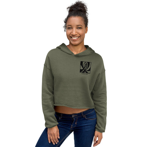 Double L Patch Crop Hoodie