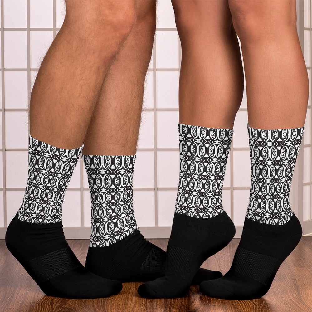 Double L Black & White Socks