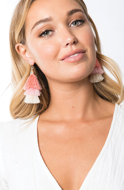 Bellini Earrings - peach