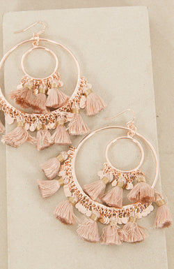 Gypset Hoop Earrings in nude/rose gold