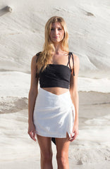 Travellers' Robe - Piper White Mini Skirt - Womens' Fashion Store - beach boho resort wear