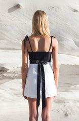 Travellers' Robe - Mimi Black Crop Top - Womens' Fashion Store - beach boho resort wear