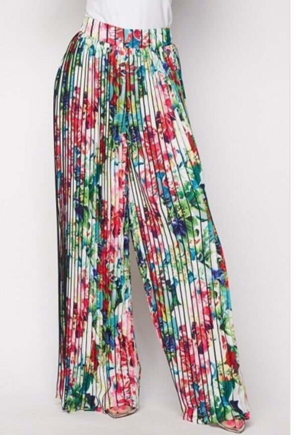Flo: Floral Wide Leg Pants