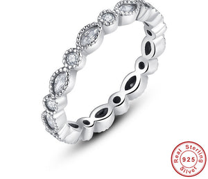 925 Sterling Silver Alluring Brilliant Marquise Stackable Finger