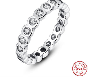 925 Sterling Silver Alluring Brilliant Stackable Ring