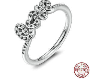 925 Sterling Silver Signature Of Love Ring