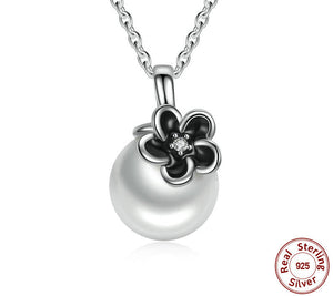 925 Sterling Silver Mystic Floral Pendant Necklace