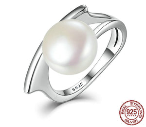 Authentic 100% 925 Sterling Silver Freshwater Cultured Pearl Ring