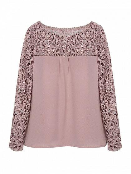 Crochet Lace Longsleeve Top