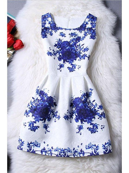 Porcelain - Sleeveless Dress