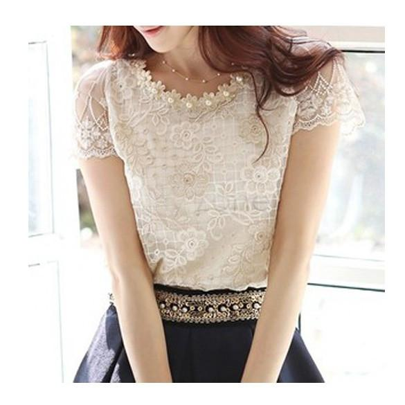 Ellie - White Lace Blouse