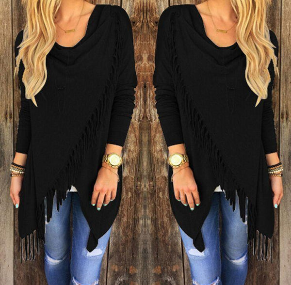 Morgan - Asymmetric Tassel Sweater