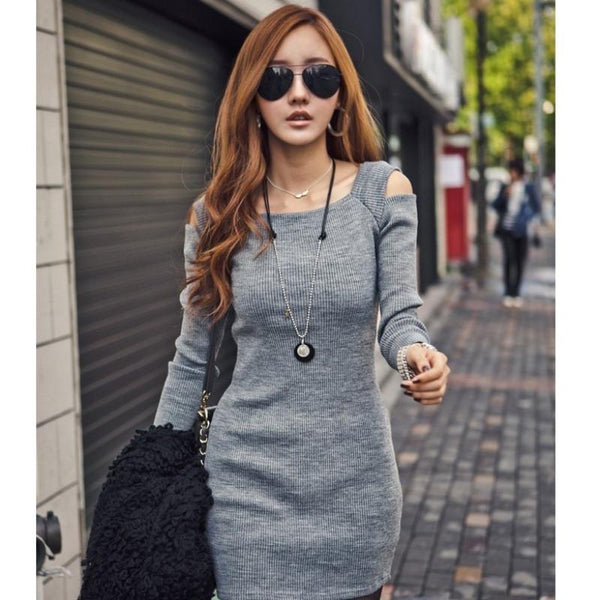 Autumn - Cutout Knit Dress