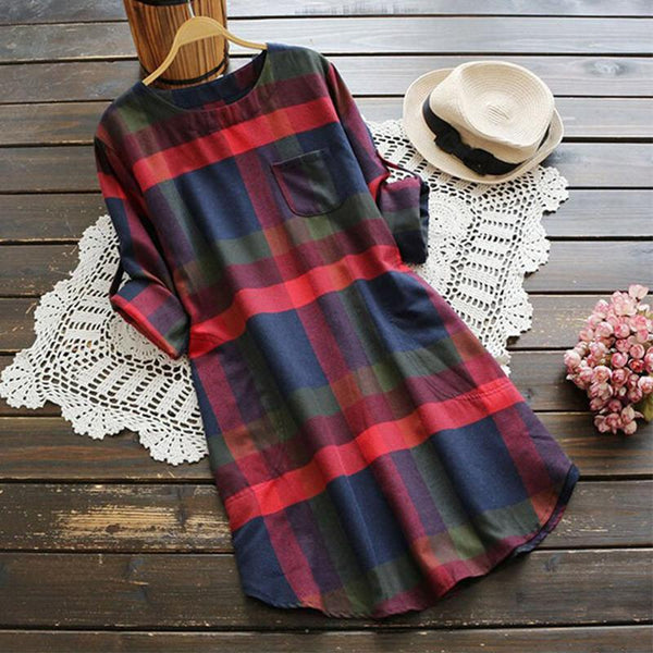 Tartan - Plaid Shirt Dress