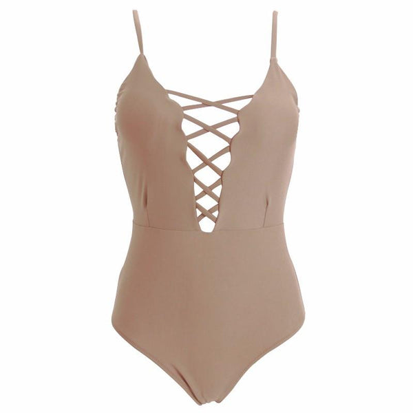 Melrose - Lace Up Monokini