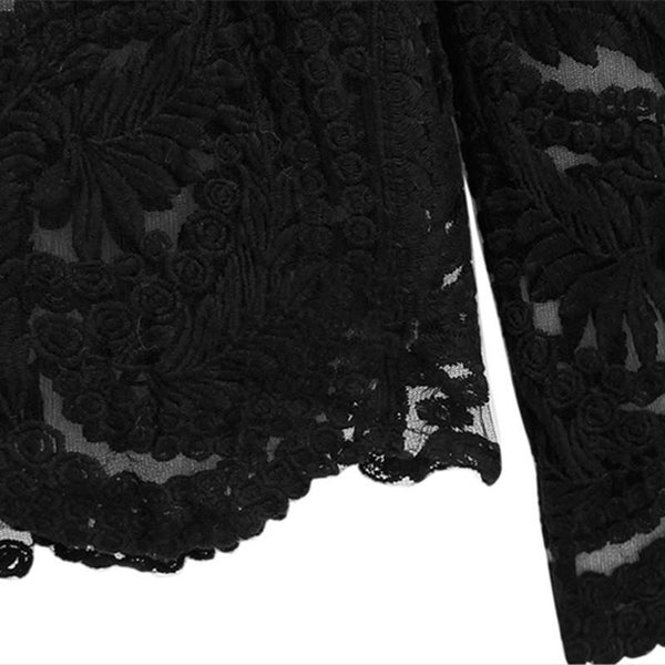 Eyre - Black Lace Top