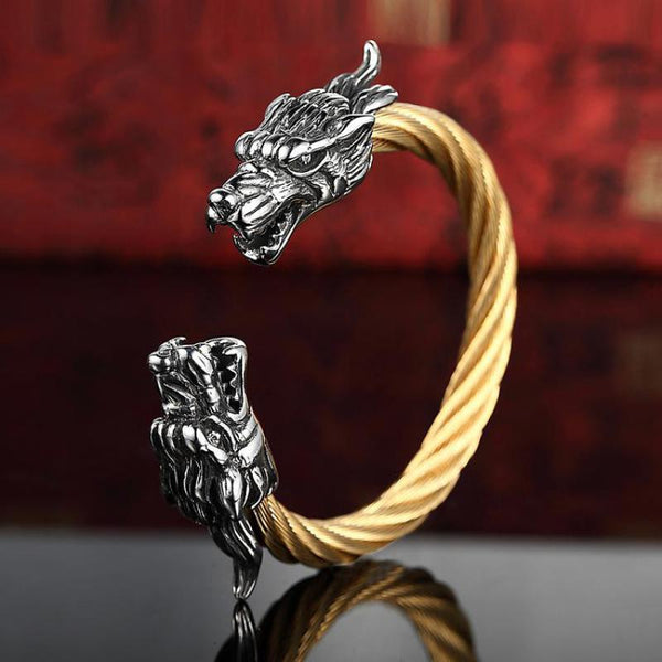 Tibetan Steel Dragon Bracelets