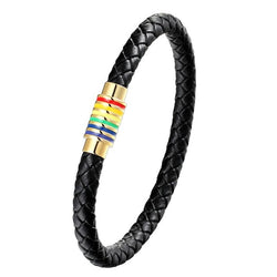 """Rainbow"" Leather Bracelet"