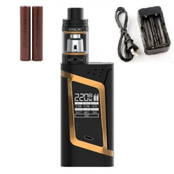 SMOKtech Alien Starter Kit - Gold - Combo Deal Including 2 LG HG2 and Dual Charger