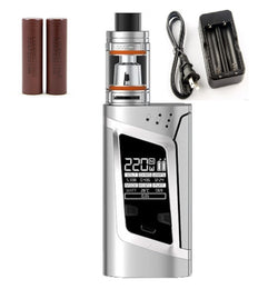 SMOKtech Alien Starter Kit - Stainless Steel - Combo Deal Including 2 LG HG2 and Dual Charger