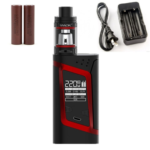 SMOKtech Alien Starter Kit - Red - Combo Deal Including 2 LG HG2 and Dual Charger