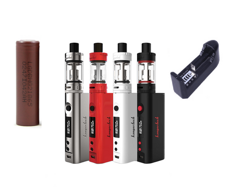 Kanger Topbox Mini Starter Kit - Platinum - Combo Deal Including 1 LG HG2 and 18650 Charger
