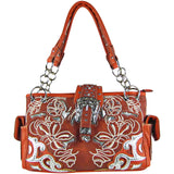 Red Flower Stitched Purse