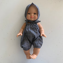 Doll Dungarees with Bonnet