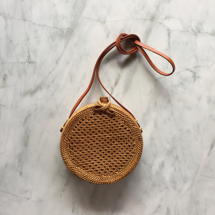 Handwoven Box Bag - Cane weaving