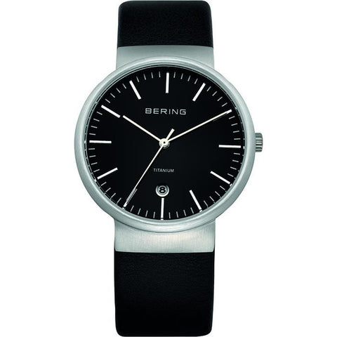 Bering Classic Black 20 mm Unisex Watch (11036-402)-COCOMI-11036-402