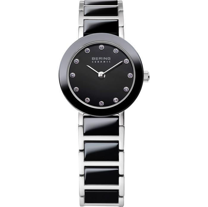 Ceramic 11422-742 Black 22 mm Women's Watch-Bering-COCOMI