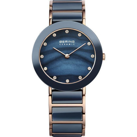 Bering Ceramic 11435-767 Blue 35 mm Women's Watch - COCOMI