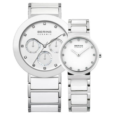 Ceramic 11438-754 38 mm Men's Watch X Ceramic 10729-754 29 mm Women's Watch-Bering-COCOMI