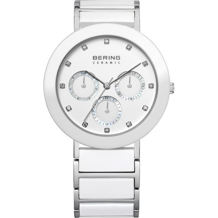 Ceramic 11438-754 White 38 mm Women's Watch-Bering-COCOMI