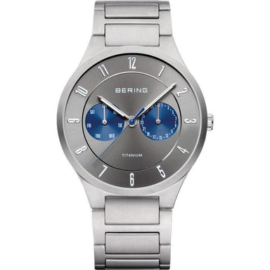 Titanium 11539-777 Grey 39 mm Men's Watch-Bering-COCOMI