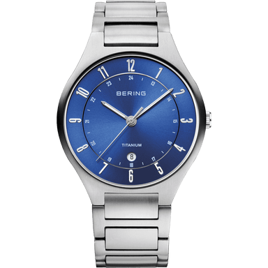 Titanium 11739-707 Blue 39 mm Men's Watch-Bering-COCOMI