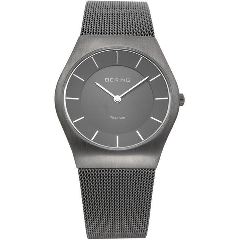 Bering Classic 11935-077 Grey 35 mm Men's Watch - COCOMI
