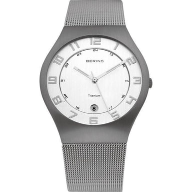 Titanium 11937-000 White 37 mm Men's Watch-Bering-COCOMI