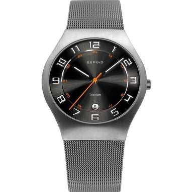 Titanium 11937-007 Grey 37 mm Men's Watch-Bering-COCOMI