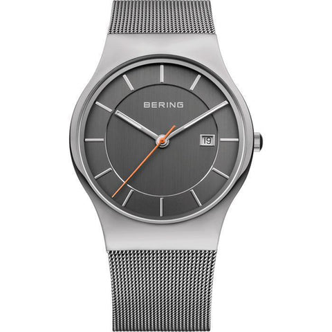 Bering Classic 11938-007 Grey 38 mm Men's Watch - COCOMI