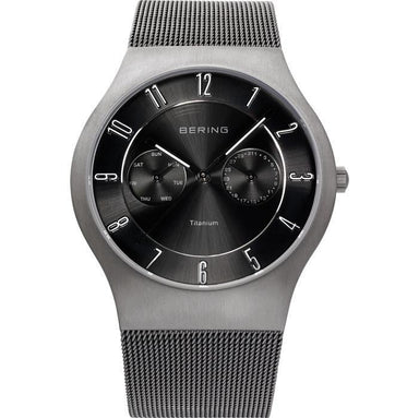 Titanium 11939-077 Black 39 mm Men's Watch-Bering-COCOMI