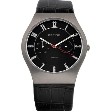 Titanium 11939-472 Black 39 mm Men's Watch-Bering-COCOMI