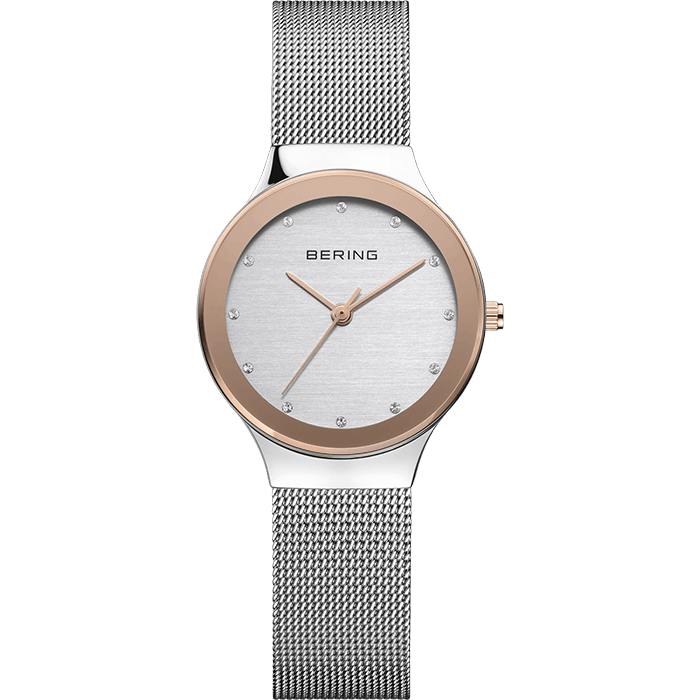 Bering Classic Silver 29mm Women's Watch (12929-060)-BERING-COCOMI